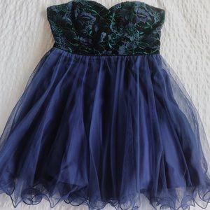 City Studio embroidered homecoming dress